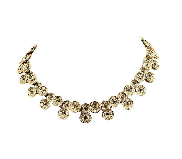 1960s Marboux (Boucher Brand) Rhinestone Collar Necklace