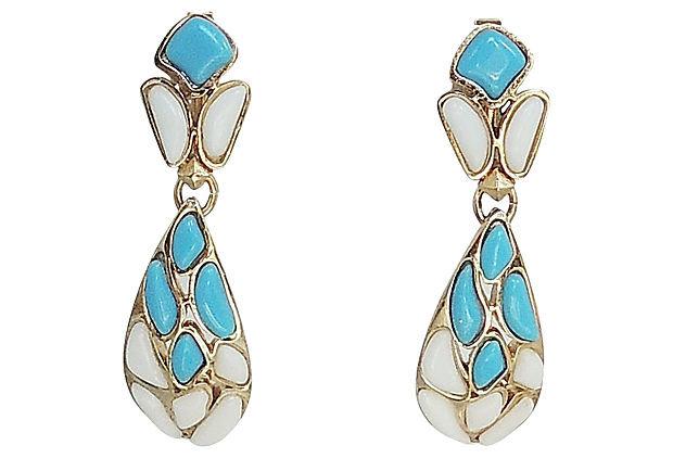 Trifari Modern Mosaics Earrings, 1966