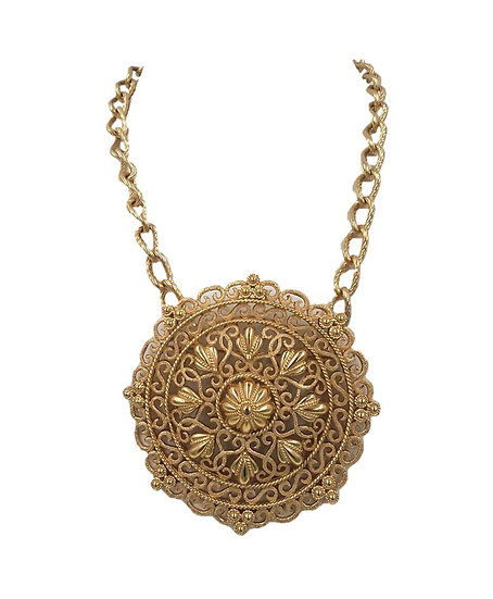 Trifari Necklace with Detachable Brooch Pendant