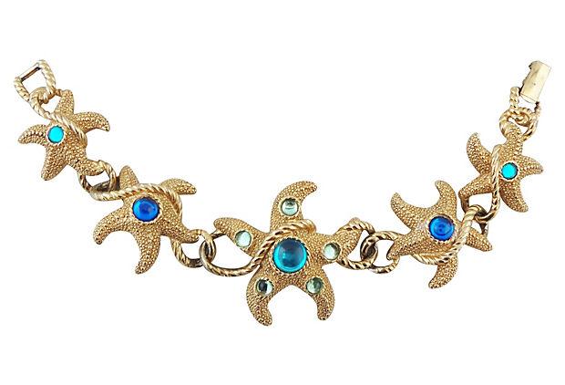 1990s Trifari Starfish Bracelet