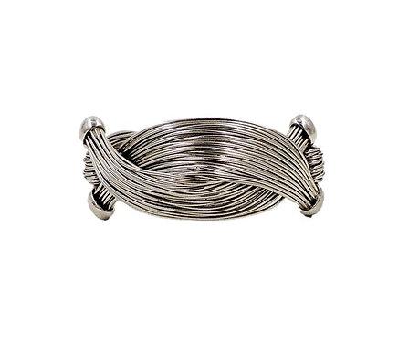 1950s Napier Silvertone Wire Bracelet