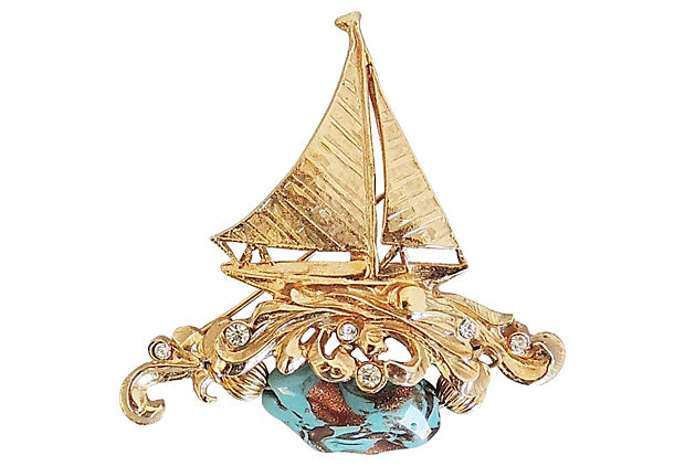 1960s Napier Sailboat Pin