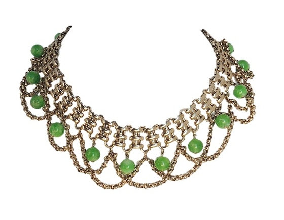Napier Faux-Jade Festoon Necklace