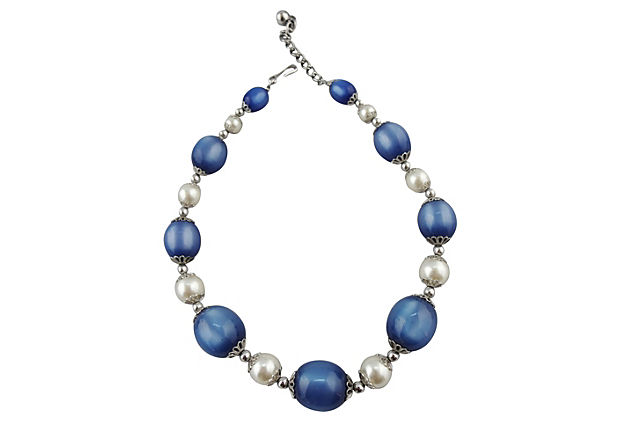 1950s Napier Blue Moonglow Necklace