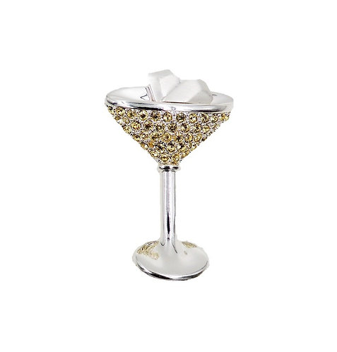 1980s Napier Martini Glass Brooch