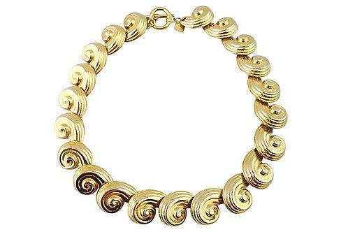 1980s Anne Klein Swirl Necklace
