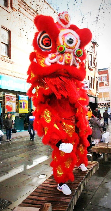 lion dance in berkshire