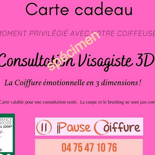 carte cadeau consultation visagiste 3D