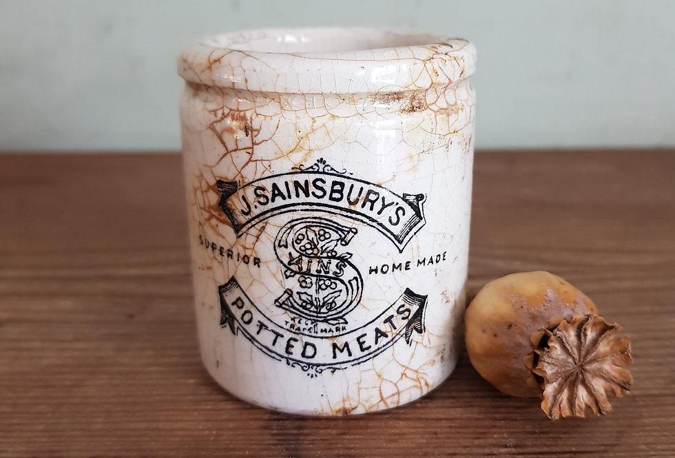 Antique Sainsburys Pot