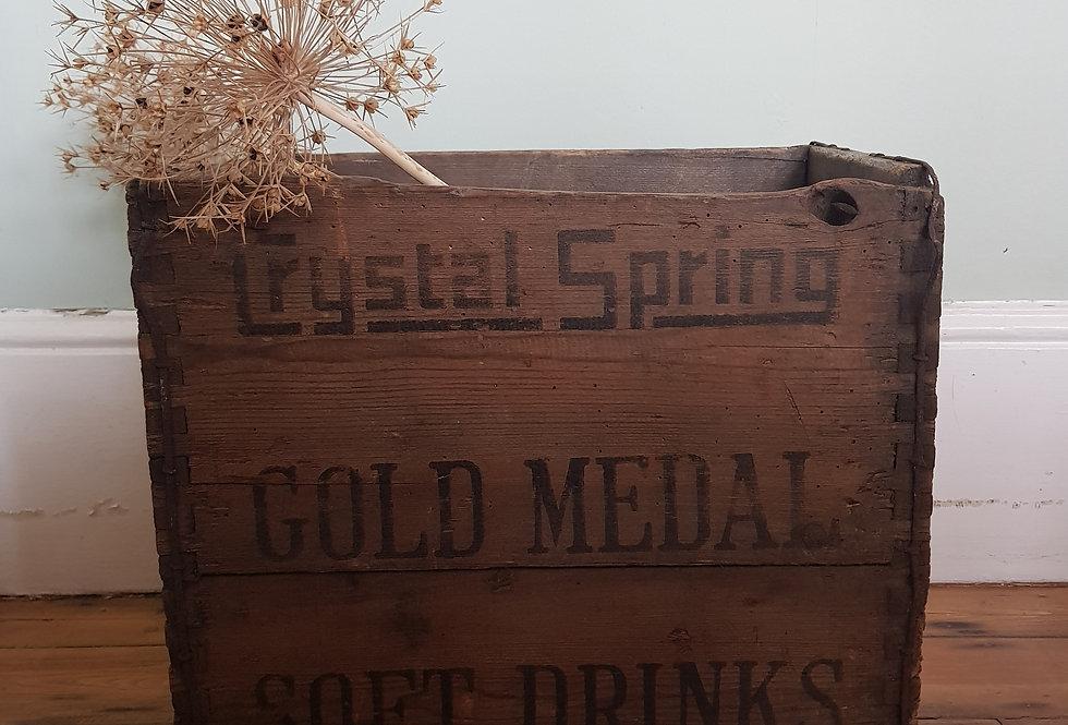Rustic 'Crystal Springs' Crate