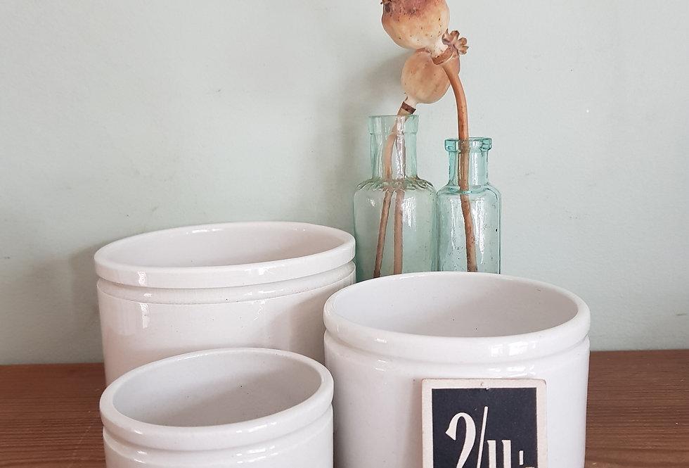 Trio of Stoneware Pots