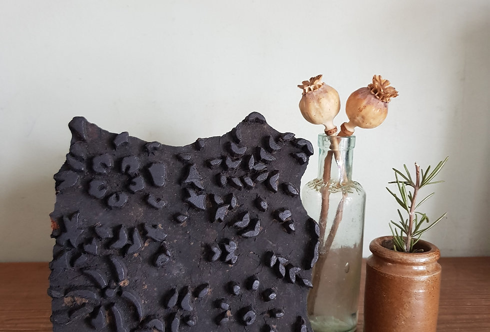 Rustic Wooden Print Block