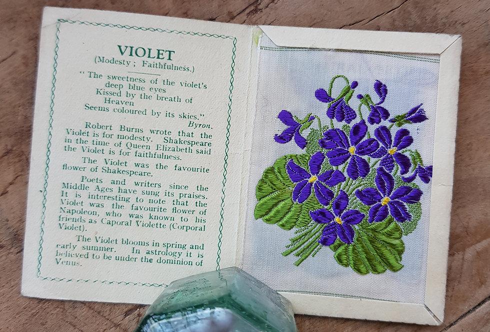 Violet Silk Flower