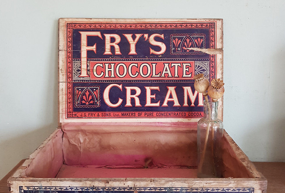 Vintage Fry's Advertising Box