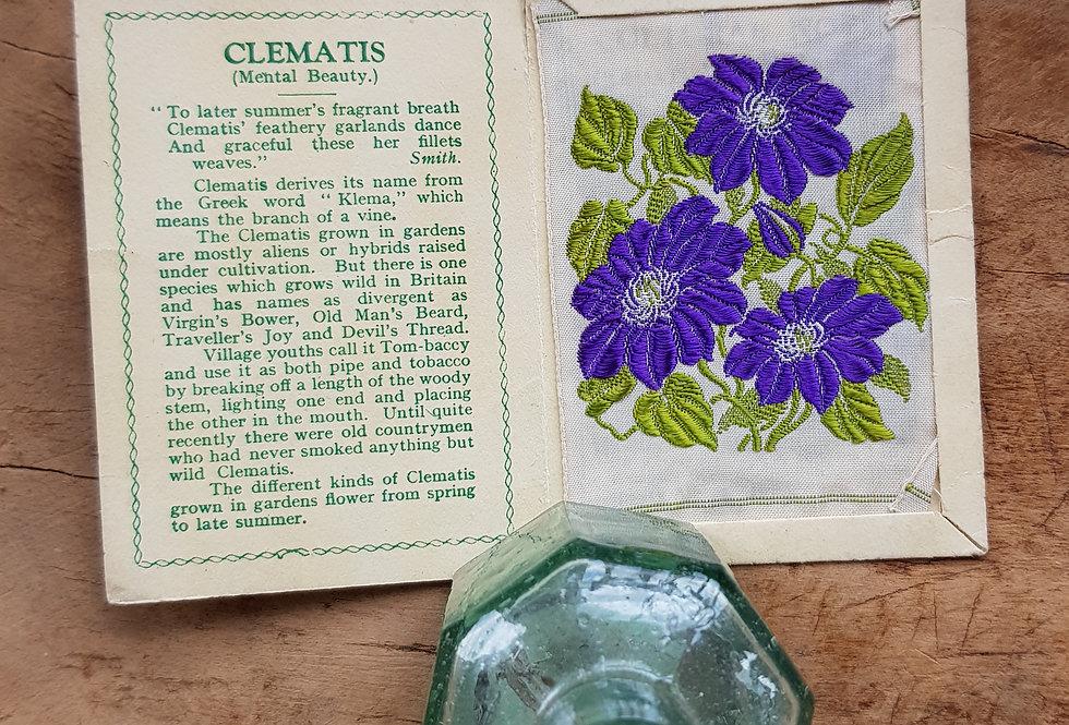 Clematis Silk Flower