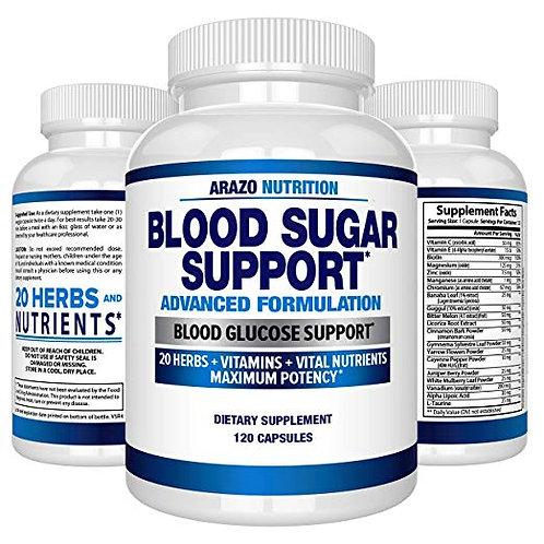 혈당 지원 보충 교재 - 알파 리포 산 & 계피등 20허브 - 120캡슐