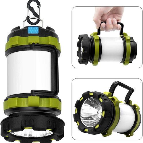 Wsky 충전식 캠핑 랜턴 손전등, 6 모드, 3600mAh 전원 은행, 양방향 걸이 후크, 캠핑, 하이킹, 야외 레크리에이션, USB 충전 케