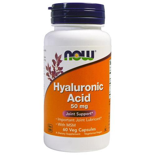 나우푸드, Hyaluronic Acid, 50 mg, 60 Veggie Caps