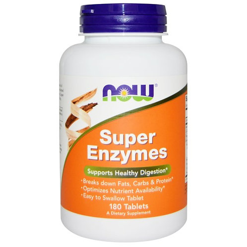 Now Foods, Super Enzymes, 180 Tablets음식 알레르기