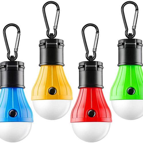 FLY2SKY 텐트 램프 휴대용 LED 텐트 라이트 4 팩 허리케인 비상 조명 캠핑 전구 캠핑 텐트 랜턴 전구 캠핑 장비 캠핑 하이킹 배낭 낚시