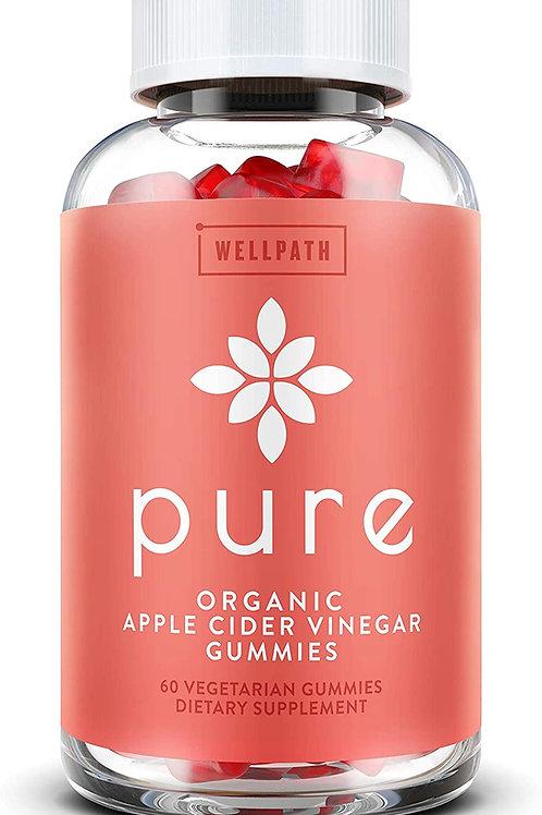 순수한 사과 사이다 식초 구미-최초의 USDA 유기농 인증 ACV 구미-어머니와 함께 원시, 유기농 ACV-캡슐에 고무 같은 대안-해독, 정화