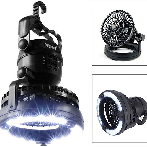 천장 팬을 가진 Odoland 휴대용 LED 야영 손전등-허리케인 비상 생존 장비