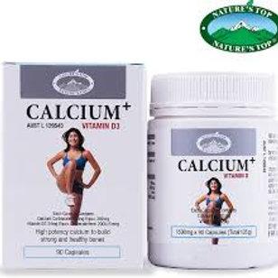 [네이쳐스 탑] 칼슘 + 비타민D3 1500mg 90정