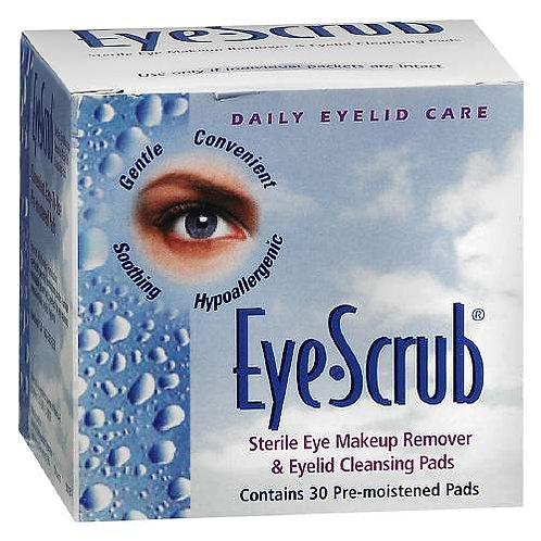 Eye Scrub 멸균 아이 메이크업 리무버 & 눈꺼풀 클렌징 패드 30 개