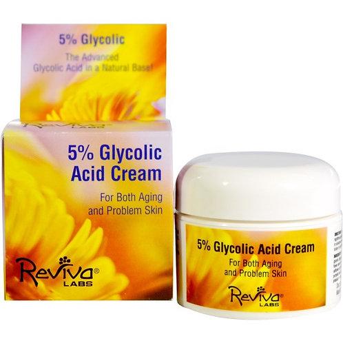 Reviva Labs, 5% 글리콜릭 에시드 크림, 1.5 온스 (42 g)