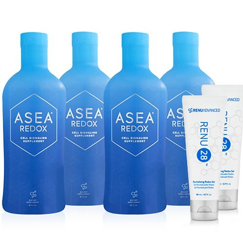 ASEA 물4+젤2=자가 치유능력 증진, 우리 몸의 항산화제 활성화, 항알러지 및 항아토피(현금가격304000원)