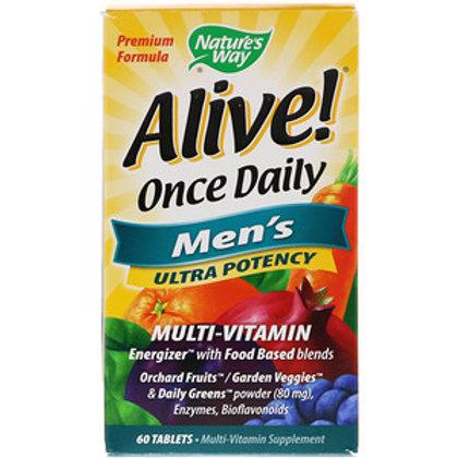 Alive 남성을 위한 복합 비타민, 60 정-내쳐스웨이