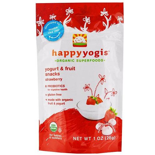 해피요기즈 (happyyogis), 요그루트 & 프루트 스낵, 스트로베리, 1 온스 (28