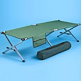 """Military Style Cot, 78"""", Capacity 500# (2/case)"""
