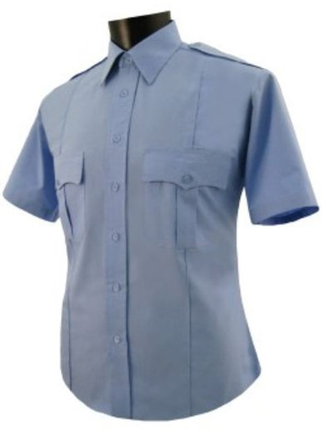 CCC-Short Sleeve PolyCotton UNIFORM SHIRT-Light Blue w/Patch