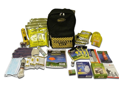 3 Person - Deluxe Emergency Backpack Kit