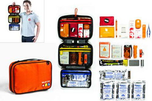 Medium Emergency Kit - with 1 day food/water (1 person)