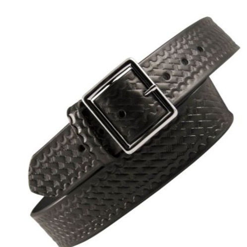 "Leather Garrison Belt 1 3/4"" Basket Weave"