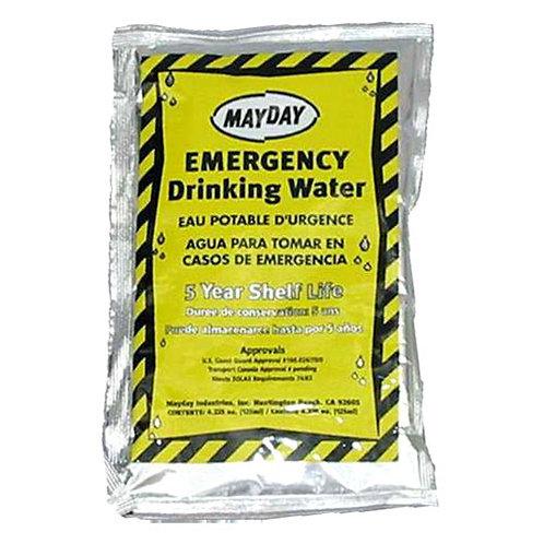 Mayday Emergency Water - 100 pouch/case •5 Yr shelf life
