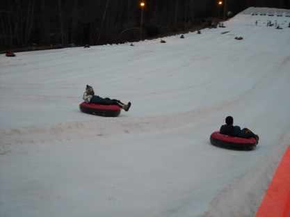 Snow Tubing in our free time