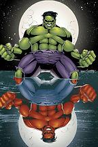 Red Hulk Green Hulk World war Hulk