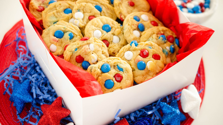 Fourth of July M&M Cookies