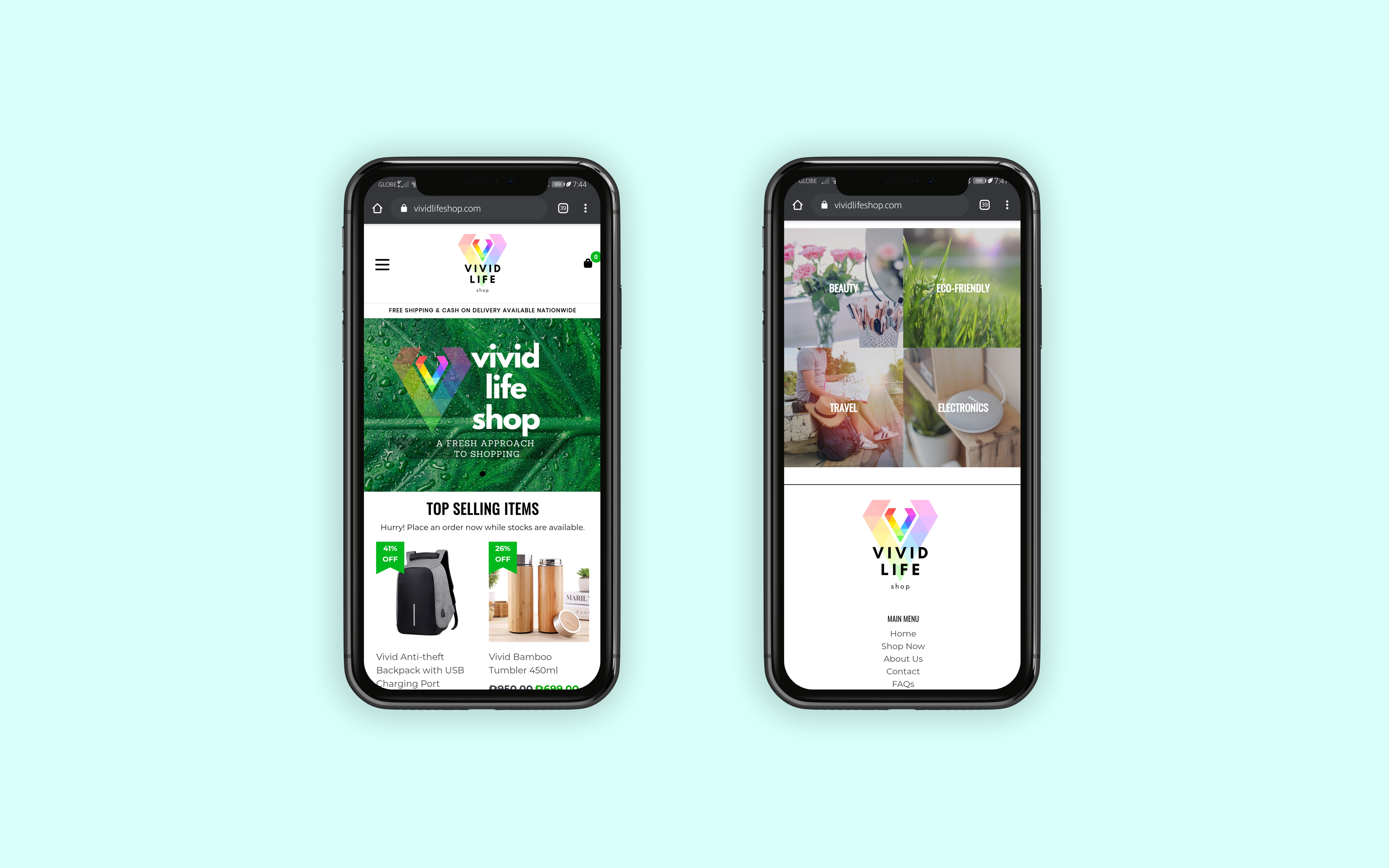 E-Commerce Mobile Site