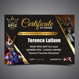 Esports Digital Certificate