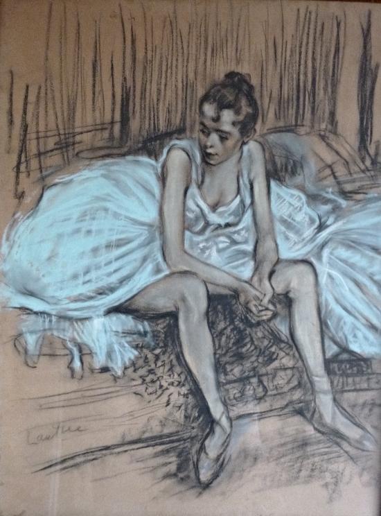 Bailarina después de la danza - Lautrec
