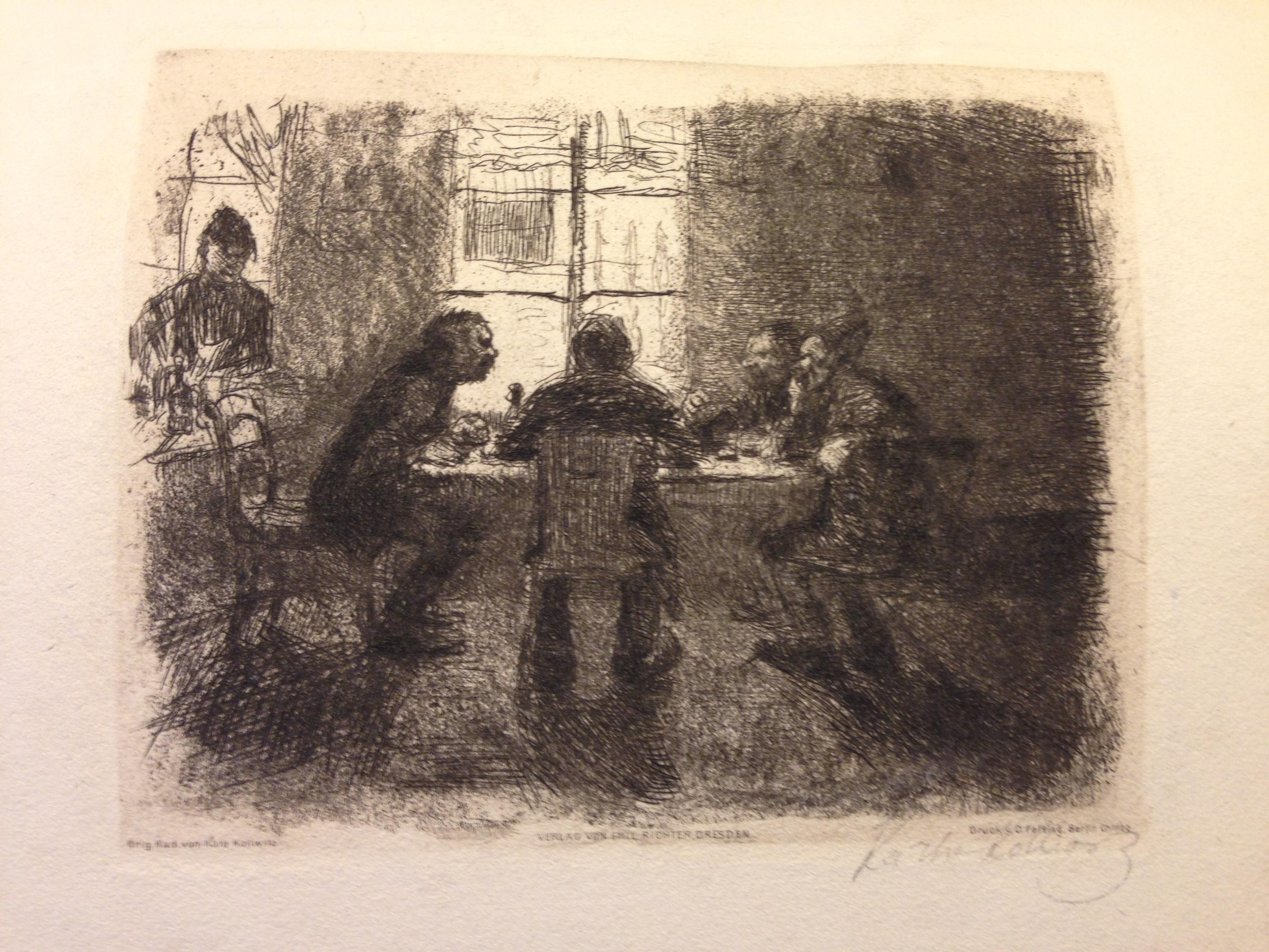 Vier Männer in der kneipe - K. Köllwitz