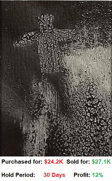 Aaron Siskind 1903-1991 , 'gloucester 3' (cracked paint with cross shape)