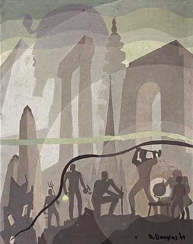 AARON DOUGLAS (1899 - 1979) Building More Stately Mansions