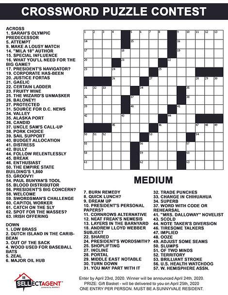 Crossword Puzzle Contest April 23rd - Me