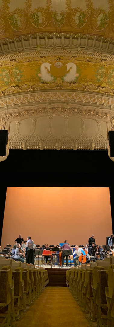 A view of the stage from the stalls at the Vichy opéra