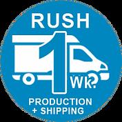 Rush one week t-shirt production